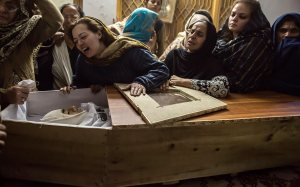 A mother mourns her son Mohammed Ali Khan, a student who was killed during an attack by Taliban gunmen on the Army Public School, at her house in Peshawar